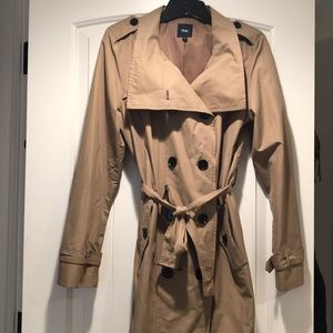 Natural color trench coat